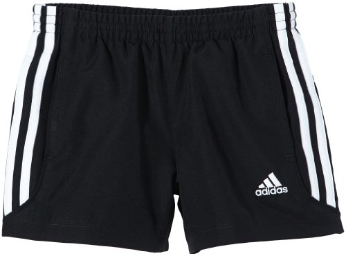 adidas Jungen kurze Hose Essentials 3 Stripes Chelsea Webshorts, Black/Wht, 152, Z30182 (3-stripes Kurze Tights)