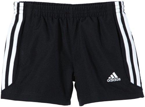 adidas Jungen kurze Hose Essentials 3 Stripes Chelsea Webshorts, Black/Wht, 140, Z30182 (Knit Mesh Pants Adidas)