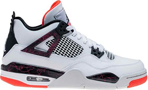 Jordan Herren 4 Retro Gs Fitnessschuhe, Mehrfarbig (White/Black/Bright Crimson/Pale Citron 000), 40 EU