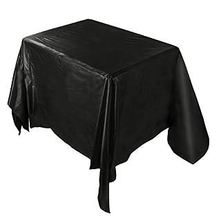 Sansee Tischdecken Küchentextilien Wasserdichte Oilproof Plastiktischdecken Tischdecke Abdeckung Party Catering Veranstaltungen Geschirr (Schwarz, 137 * 274 CM)