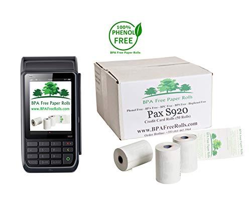 Pax S920 - Rollos tarjetas crédito sin BPA 50 rollos