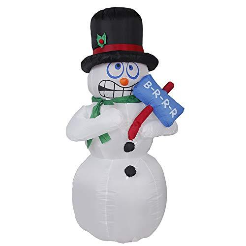 Lhxhl babbo natale pupazzo di neve luce gonfiabile 180cm personaggio natalizio santa impermeabile grande decorazione natalizia completo body shake pupazzo