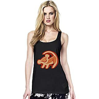 Simba The Lion King Logo Womens Continental Tunic Vest Small