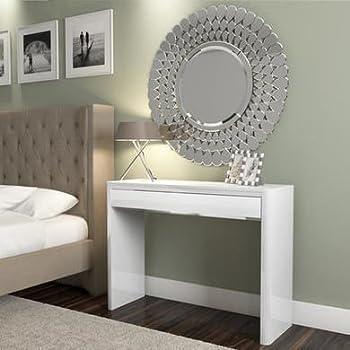 Lexi White High Gloss Dressing Table - 1 Drawer - Modern ...