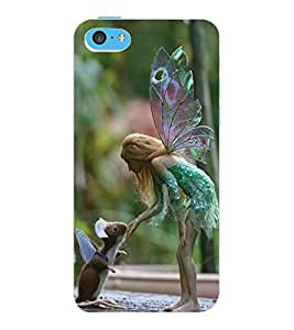 ColourCraft Angel and Friend Design Back Case Cover for APPLE IPHONE 5C