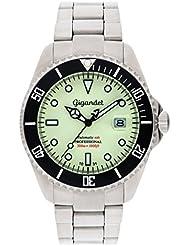 Gigandet SEA GROUND Automatik Herren Armbanduhr - Taucheruhr 300m wasserdicht mit Edelstahlarmband und leuchtendem Zifferblatt - G2-011