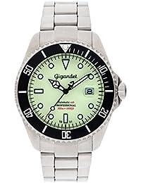 Gigandet Automatik Herren-Armbanduhr Sea Ground Taucheruhr Uhr Datum Analog Edelstahlarmband Silber G2-011