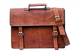 Leather Bag For Men's Women Messenger Satchel Laptop Natural Handbag Smart Real Genuine Bags Vintage