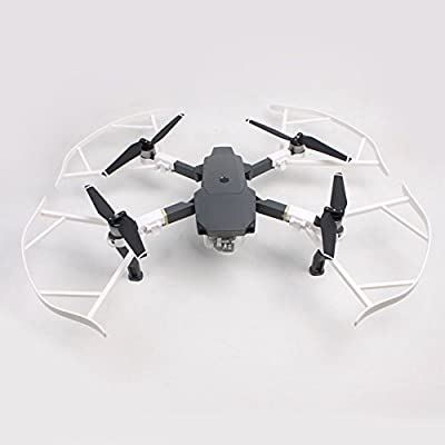 YUNIQUE UK ? 4 Pieces Propeller Prop Blades Protector Guards Cover Bumper Protection Frame Set for DJI Mavic Pro RC Quadcopter Replacement Parts Accessories White