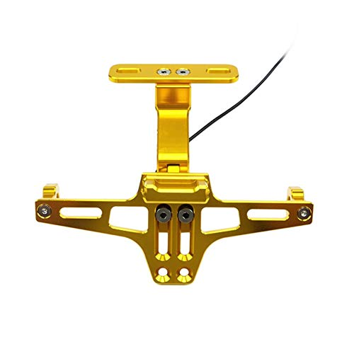 Motorrad Kennzeichenhalter Kennzeichenhalter Rahmen-Gold