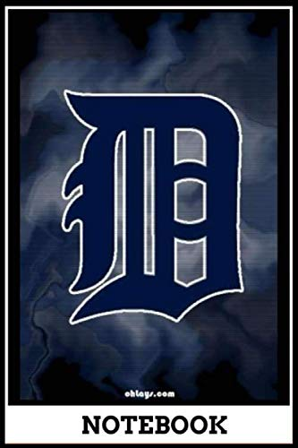 Notebook: Detroit Tigers notebook, size 6x9 inch , Major League Baseball cover, 120 pages of lined paper matte cover