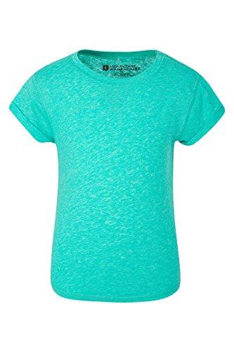 Sweatshirt Turn-up (Mountain Warehouse Turn up Mädchen T-Shirt Blaugrün 164 (13 Jahre))