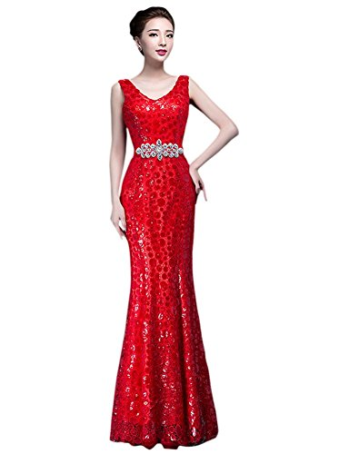 Drasawee - Robe - Moulante - Femme rouge Red red