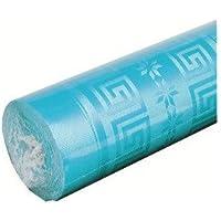 Nappe papier damassé 1.20 x 6 m - turquoise