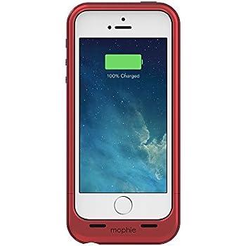 mophie juice pack plus Coque-Batterie pour iPhone 5 et 5s 2100 mAh Rouge