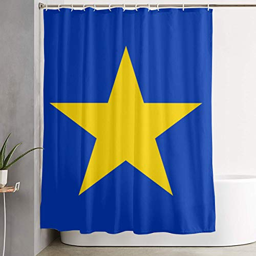 Bonnie Blue Stoffen (IconSymbol Decorative Easy Care History of The Bonnie Blue Flag Colorful Bathroom Shower Curtain for Showers 60