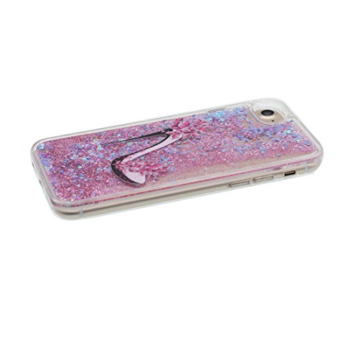 "Hülle iPhone 6, Liquid Fließendes Glitzer Bling Bling Floating sparkles (Einhorn unicorn), iPhone 6S Handyhülle Cover (4.7 zoll), iPhone 6 Case Shell (4.7"") Anti-Beulen & Ring Ständer # 6"