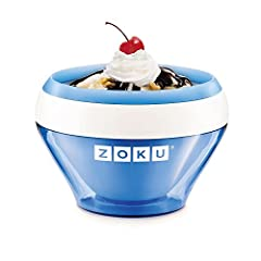 Idea Regalo - Zoku ICE CREAM Maker Blue - Ice Cream - Sorbet - Frozen yoghurt in 10 Minutes