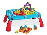 Mega Bloks La Table d'Apprentissage bleue avec briques de construction et 2 véhicules, 30 pièces, jouet pour bébé et...