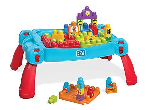 Mattel Mega Bloks FGV05 - Bau und Spieltisch, 30 Teile (Mega Blok Bau)