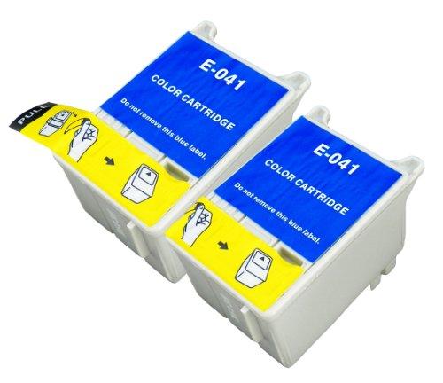 2 Multipack XL Epson T041 Patronen Kompatible. 2 color für Epson Stylus...