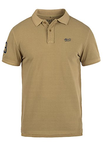 BLEND 703096ME Dave Poloshirt, Größe:M;Farbe:Sand Brown (75107) (Braun-piqué-polo-shirt)