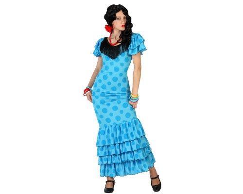 Atosa-18340 Disfraz Flamenca, Color celeste, XL (18340