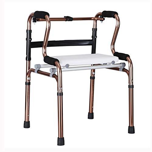 LYXPUZI Gehhilfe für ältere Menschen - Laufkatze mit Rollen mit Gehhilfe für Gehhilfe für die...