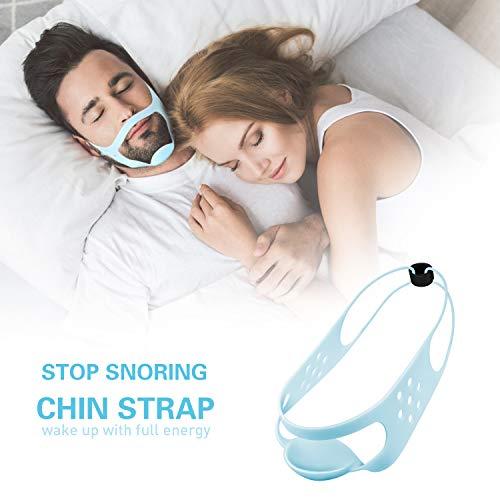 Schnarchstopper - Einstellbare Kinnriemen Silikon Schnarch Stop Lösung Anti-Schnarch Geräte für Besseren Schlaf Schnarchstopper-Kinnriemen SchnarchHilft zum Schnarchreduzierung