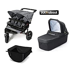 Out 'n' About V4 Nipper Double/Carrycot/Basket - Steel Grey   4