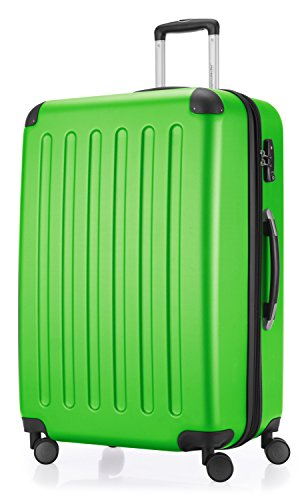 HAUPTSTADTKOFFER - Spree - Hartschalen-Koffer Koffer Trolley Rollkoffer Reisekoffer Erweiterbar, 4 Rollen, TSA, 75 cm, 119 Liter, Apfelgrün