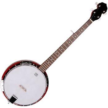 Musikinstrument Banjo 4-saitiges Banjo Set  mit BJ10 Strings Capo Reinigungstuch