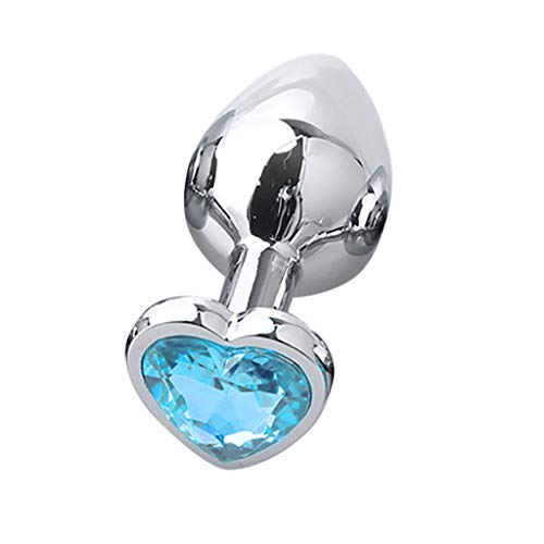 Honestyi Neueste Modell Weiblich Sexspielzeug,Vibratoren Metall Analplug Fingersatz Vibrationsrute Einlaufschloss Feinring 20er-Set (blau) - Erotik Modelle