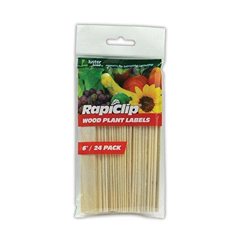 Lusterleaf 812 6 po Rapiclip bois -tiquettes de plantes - Caisse de 12
