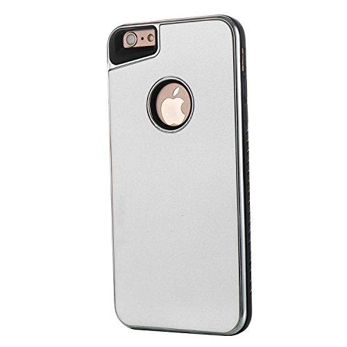 EKINHUI Case Cover Shock Absorbing Hard Cover Hybrid Abnehmbare Dual Layer PC + TPU Schutzhülle für iPhone 6 & 6s Plus ( Color : Rosegold ) Silver