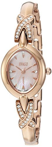 Jivago Women's 'Via' Quartz Stainless Steel Casual Watch, Color:Two Tone (Model: JV3615)