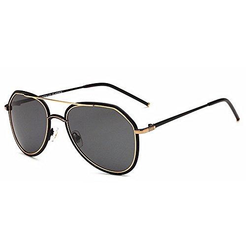 Ppy778 Vintage Retro Polarisierte Sonnenbrille Für Männer Outdoor-Sport Ultraleichte Metallic Metallrahmen HD Objektiv Gläser Air Force Unisex UV 400 Schutz (Color : Gold)