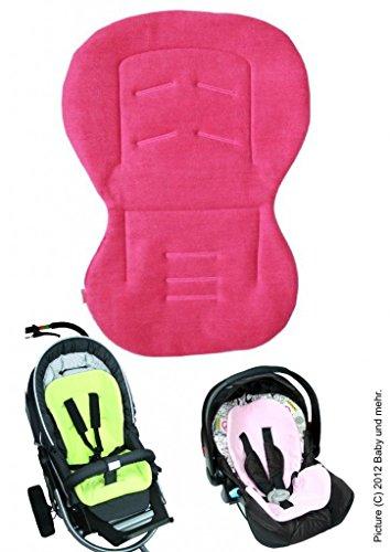 Decken Für Babys Hochstühle (ByBoom® - Baby Sitzauflage / Sitzeinlage Moby mit Sommer- und Winterseite, Universal für Babyschale, Autokindersitz, z.B. für Maxi-Cosi, Römer, für Kinderwagen o. Buggy, Farbe:Fuchsia)