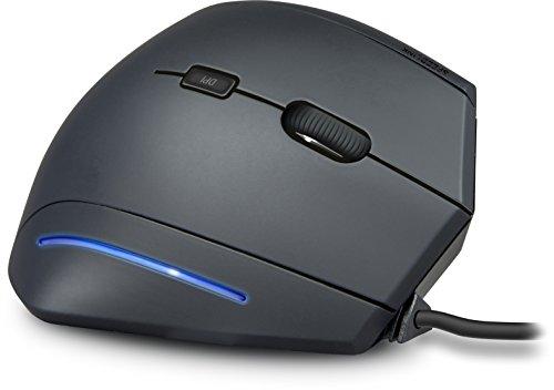 Speedlink MANEJO vertikale USB Maus - gelenkschonend und ergonomisch für PC/Computer/Mac, schwarz