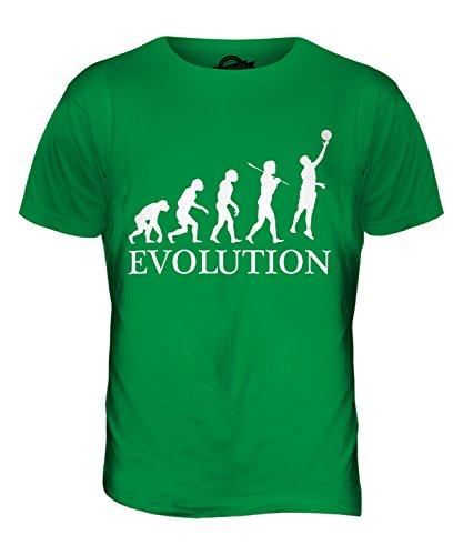 CandyMix Netball Evolution Des Menschen Herren T Shirt Grün