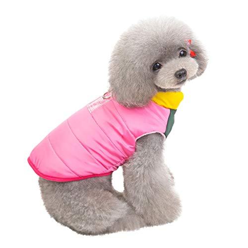 Heißes Thema Weihnachten Kostüm - Smniao Haustier Kostüm Hunde Kleidung für Kleine Hund Mantel Warm Katzen Pullover Sweater passt Hunde Gewicht unter 9KG Hund (S, Heiß Rosa)