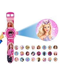 Barbie 24 Different Images Projector Watch| Light Watch for Kids | Pink