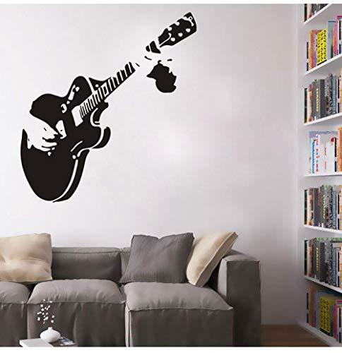 Gitarre Element Geschnitzte Wandaufkleber Wohnzimmer Schlafzimmer TV Wand Schlafsofa Badezimmer Kinderzimmer Kindergarten Klassenzimmer Kreative Heimat Hintergrund Decor