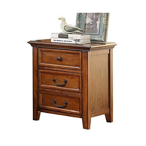 SY ZYQ Nachttisch 52 * 42 * 62 cm Nachttisch-Schlafzimmer-Möbel Alle Massivholz-Nachttisch-Nachttisch Mesitas De Noche Beistelltisch-Schlafzimmer-Kabinett -