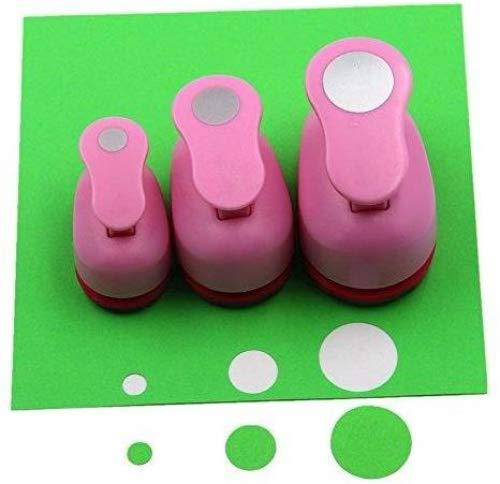 CADY Crafts Locher-Set, 8mm, 15mm, 25mm, Papierlocher 3 Stück/Set Kreis