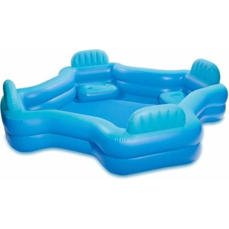 Intex Relax And Keep Cool 57191WL Swim Center Family Lounge Pool, Holds 221 Gallons Water, Blue by Intex -