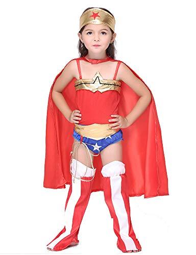 Aida Bz Kinder-Wonder-Frau Kostüm Mädchen Cosplay Anime-Kostüme (Wonder Red Halloween Kostüm)