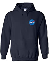 NASA Space Rocket Moon Space Astronaut Pocket Novelty White Men Women Damen Herren Unisex Hoodie Kapuzenpullover Verschiedene Farben