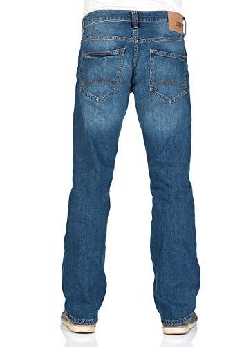 MUSTANG Herren Jeans Oregon - Bootcut - Blau - Denim Blue - Medium Blue - Mid Blue, Größe:W 32 L 36, Farbe:Medium Blue (1006280-702) -