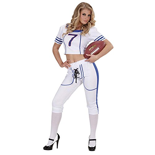 (Kostüm Amercan Football Girl sexy  S Frau Cheerleader Sportlerin T-Shirt & Shorts)